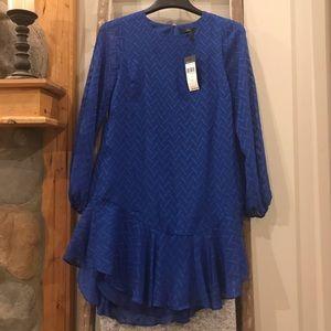 NWT BCBG Maxazria sapphire blue drop hem dress